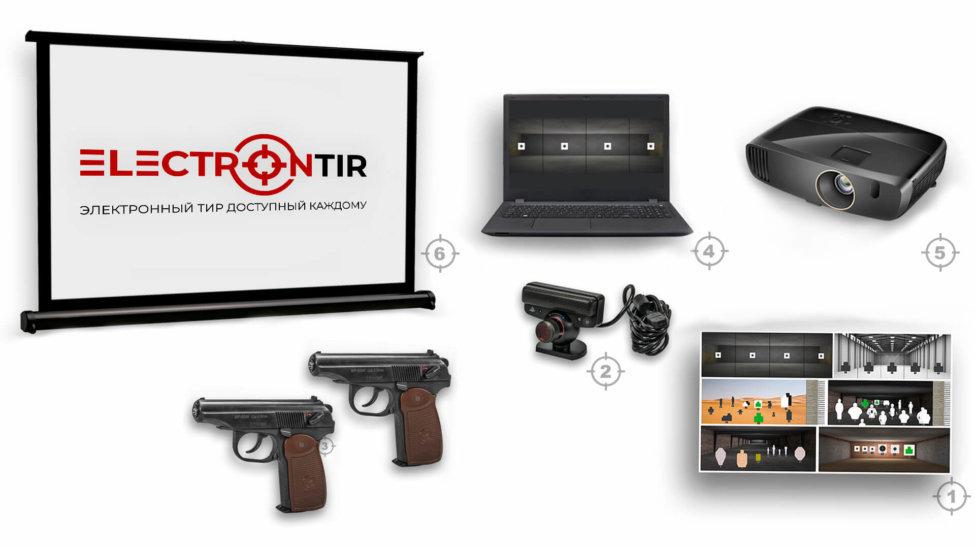 Лазерный тир интерактивный ⋆ТИР ЭЛЕКТРОН⋆ комплект 7